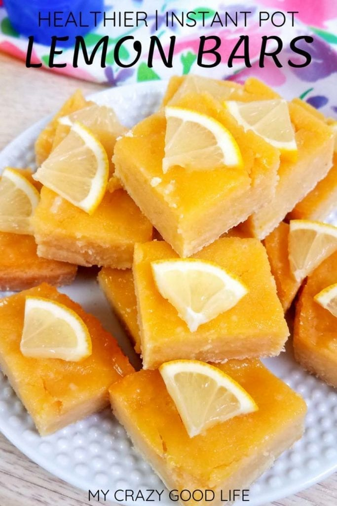 Cook these healthy Lemon Bars in the Instant Pot or oven, and enjoy this clean eating lemon bar recipe. Refined sugar free and delicious, this is your simple and easy recipe for Lemon Bars and Lemon Pie Filling. #easydessert #cleaneating #healthydessert #easyrecipe #healthyrecipe 21 Day Fix Lemon Bars | 2B Mindset Lemon Bars | Clean Lemon Bars | Instant Pot Lemon Bars