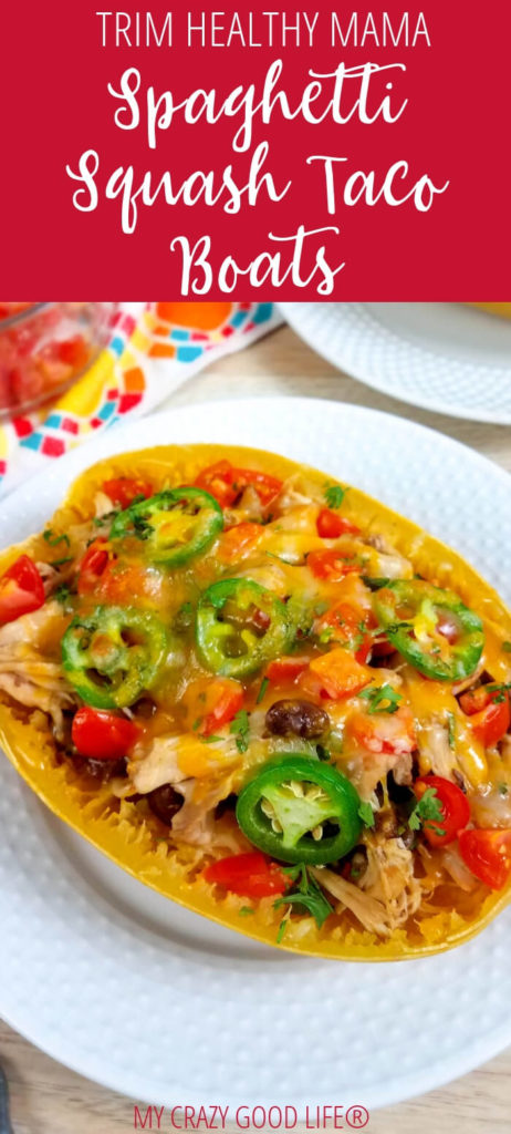 Looking for a great crossover dinner recipe for Trim Healthy Mama? These spaghetti squash taco boats are so tasty and easy to make. You can even alter them slightly to hit a different recipe category!