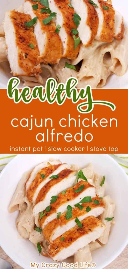cajun chicken alfredo recipe pin