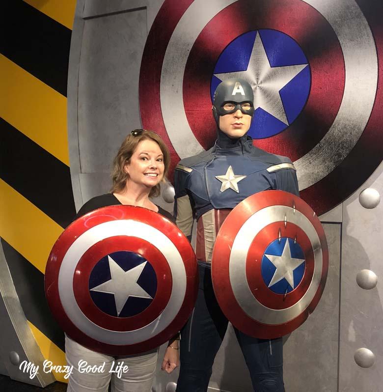 Cap and I, fighting bad guys