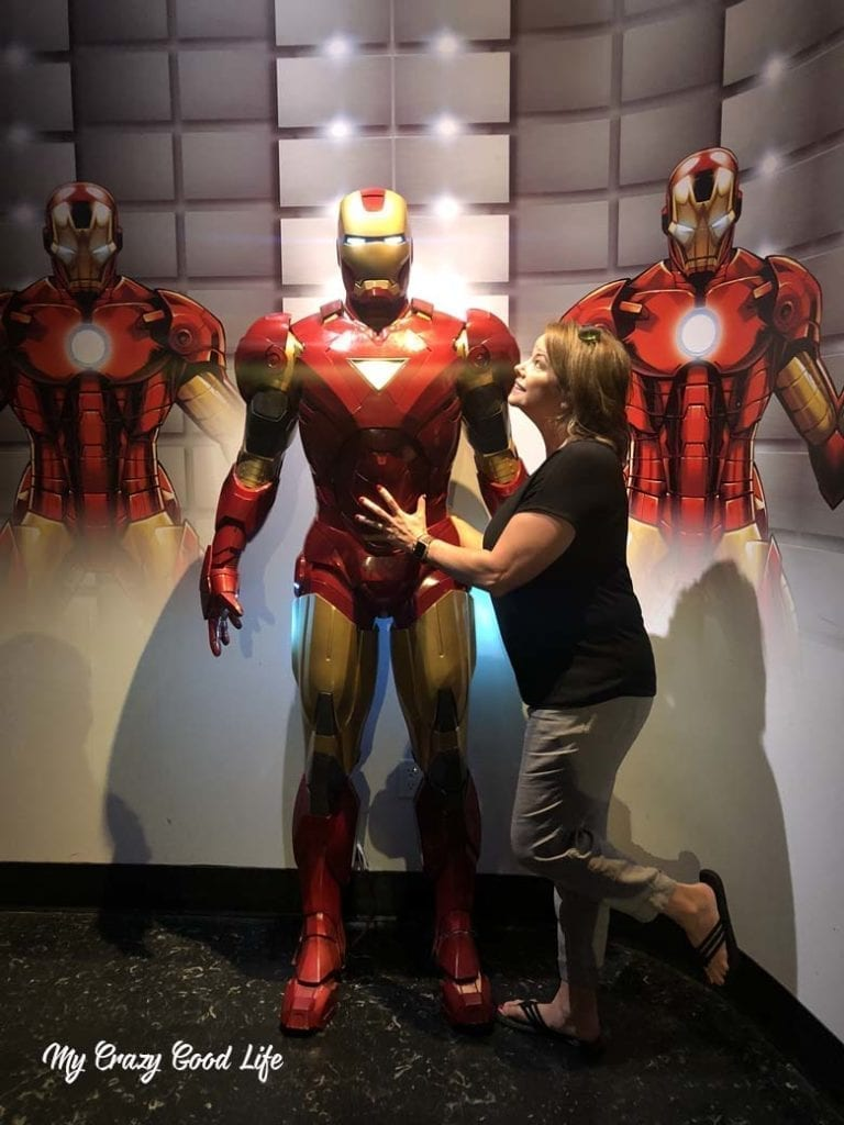 Iron Man and me, just hanging.
