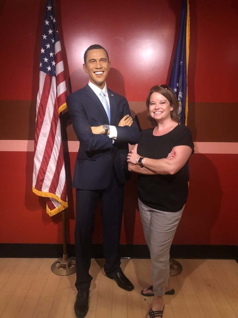 Hanging with Barack.