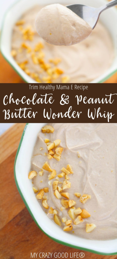 With a little tweaking this chocolate peanut butter wonder whip can be a delicious dessert or treat for Trim Healthy Mama!