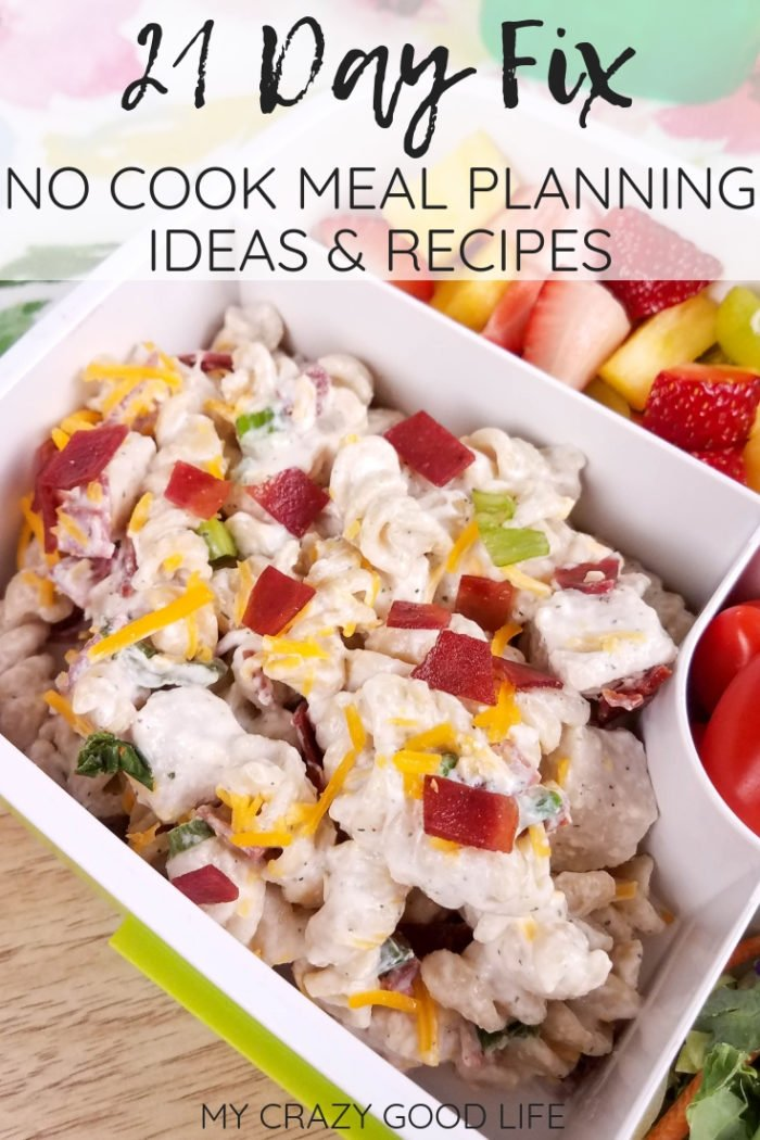 21 Day Fix no cook meal planning ideas will help you keep healthy meals on the table with less stress! No hassle breakfast, lunches, and dinners that are 21 Day Fix friendly and require no cooking throughout the week. 21 Day Fix No Cook Meals | Healthy Meals #21dayfix #beachbody #nocook