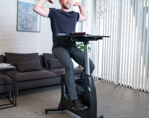 Check out the Flexispot all in one desk exercise bike to learn more about my experience with this desk and exercise bike in one! Exercise Bike | Desk Bike | Standing Desk | Cycling Desk #exercise #office #deskbike #bikedesk