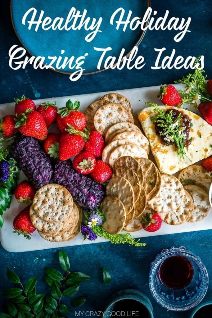 Healthy Grazing Tables are the new Buffet Tables! Perfect for helping you stay on track with weight loss at holiday parties! These Holiday Grazing Table Ideas are healthy finger foods that your guests can graze during your party. Grazing Table Recipes | Grazing Table Appetizers | Grazing Table Foods