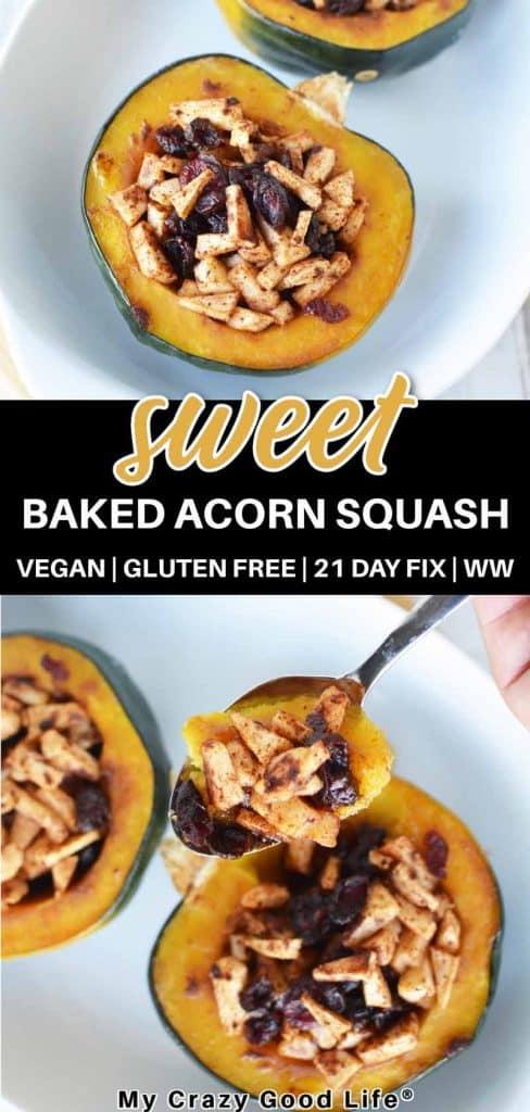 sweet stuffed acorn squash pin