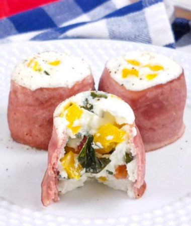 This healthy copycat Starbucks Egg White Bites Recipe is wrapped in bacon and so delicious as an on the go snack! These Tomato Basil Egg White Bites are a great healthy breakfast recipe and can be made in the Instant Pot or in the oven. Copycat Starbucks Egg White Bites | Healthy Egg White Bites | Turkey Pepper Egg White Bites #starbucks #healthy #copycatrecipes #breakfastrecipes #instantpot