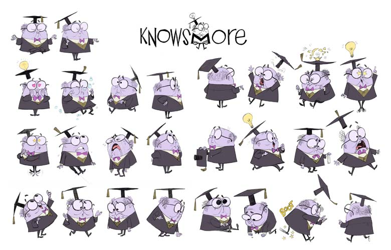 KnowsMore Character Variations