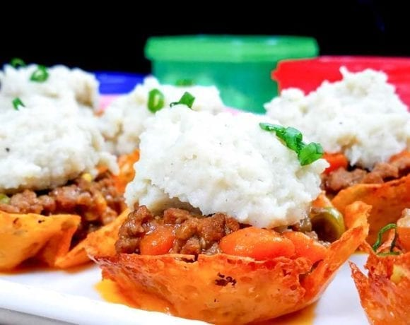 These mini Shepherds Pie bites are perfect for your grazing table! Healthy Shepherd's Pie in keto cheese cups is a family friendly recipe that you can make on the stove or in your Instant Pot. The cheddar cheese cups are low carb and easy to make. Keto Dinner Recipe | Low Carb Dinner Recipe | 21 Day Fix Dinner Recipe | 2B Mindset Dinner Recipe | Healthy Dinner Recipe | Grazing Table Recipe | Holiday Recipe | Easy Shepherd's Pie | Low Carb Shepherd's Pie #21dayfix #healthy