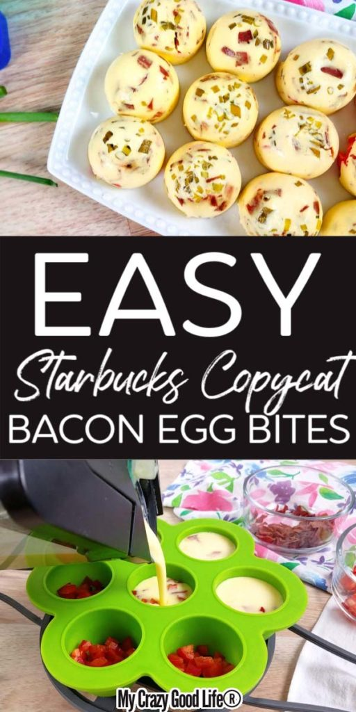 collage image of egg bites with text for pinterest