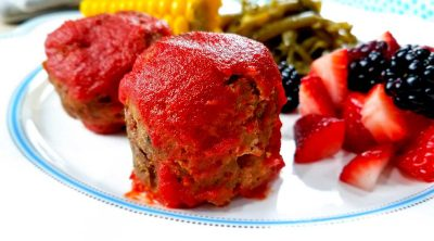 Weight Watchers Meatloaf Bites close up