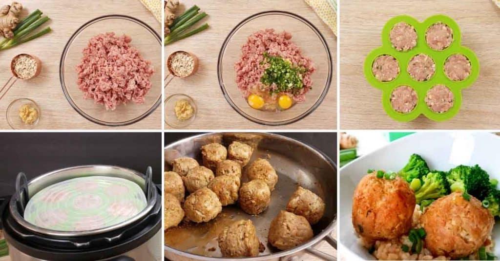 Weight Watchers Teriyaki Meatballs collage