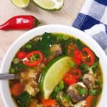 Healthy Egg Drop Soup with Chicken
