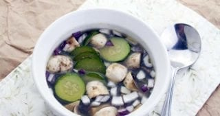 This Chicken Bone Broth Soup recipe is a family favorite! It's filled with vegetables, vitamins and minerals, and feel good power. Can be made on the stove top, in the crockpot, or in the Instant Pot for an easy dinner. Frozen Bone Broth Soup is a great way to always have some ready! #bonebroth #soup #instantpot