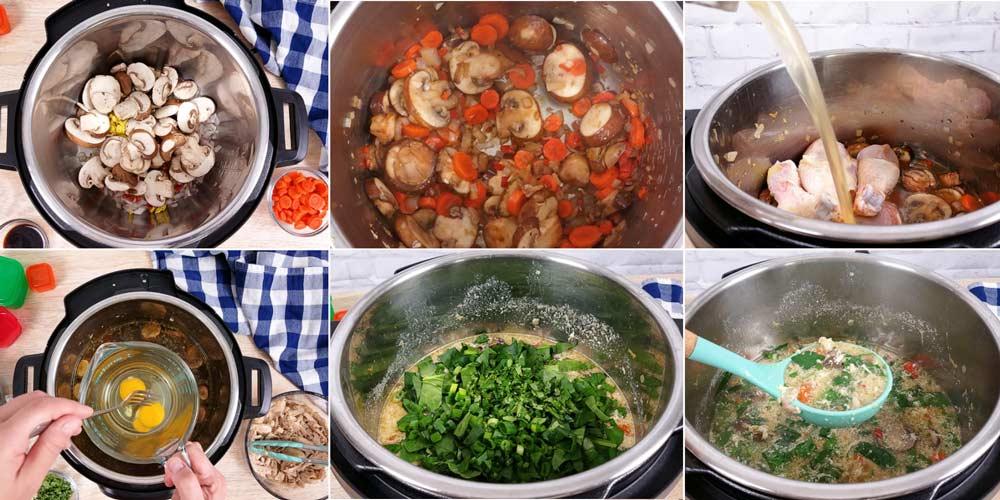 egg drop soup collage