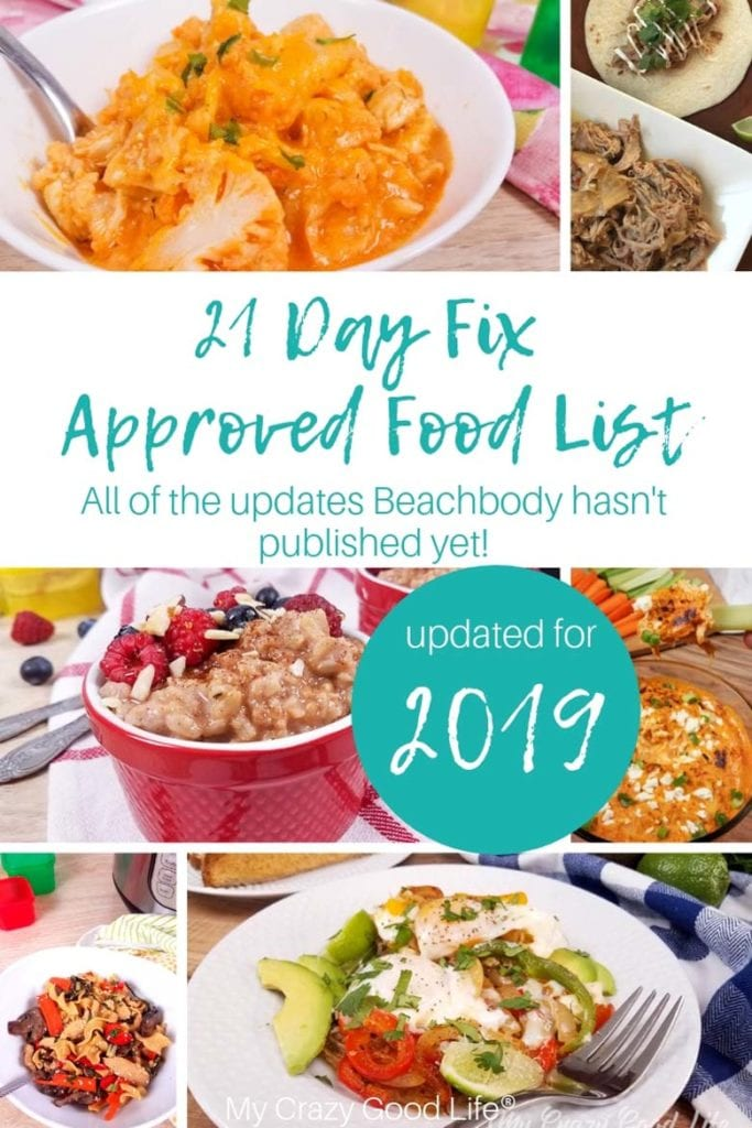 I've created an updated food list that includes the basic 21 Day Fix food list, the Shakeology and protein shake bases (your 21 Day Fix milk options), free foods, flours, and all of your 21 Day Fix treat swap options. Sources for updates are inked in the post. 2019 21 Day Fix Food List | Updated 21 Day Fix Food List | Last updated 1/2019