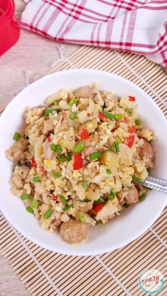 easy cauliflower fried rice for dinner
