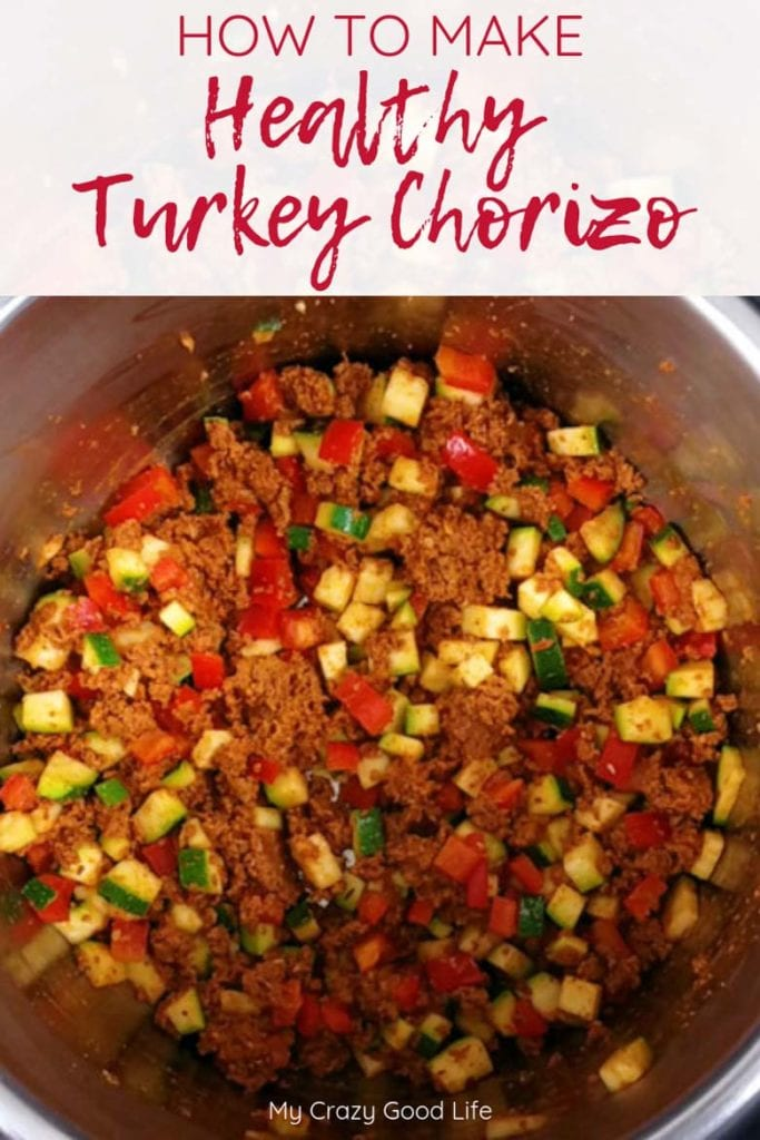 turkey chorizo with vegetables in an instant pot