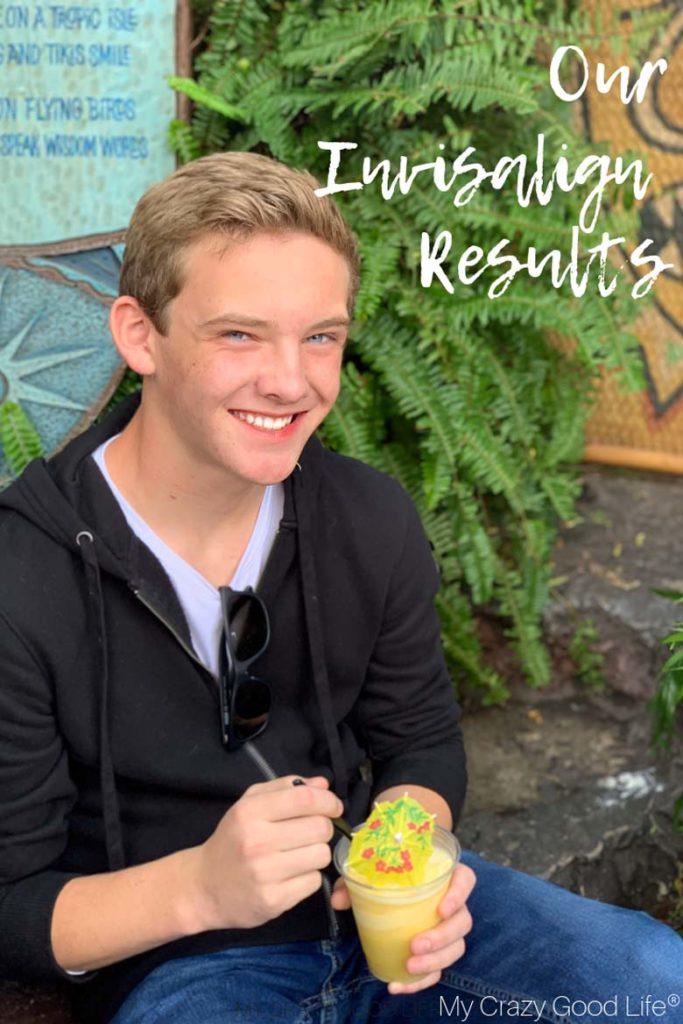 Jack at DIsneyland eating a Dole Whip