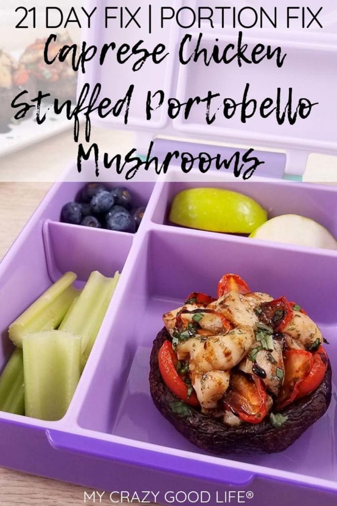 These Caprese Chicken Stuffed Portobello Mushrooms are a delicious lunch or dinner! A large portobello mushroom topped with a caprese chicken inspired mixture can be easily baked for a healthy dinner. I love how hearty and versatile portobello mushrooms are! Stuffed Portobello Mushroom Recipes | Mushroom Recipes | Portobello Recipes