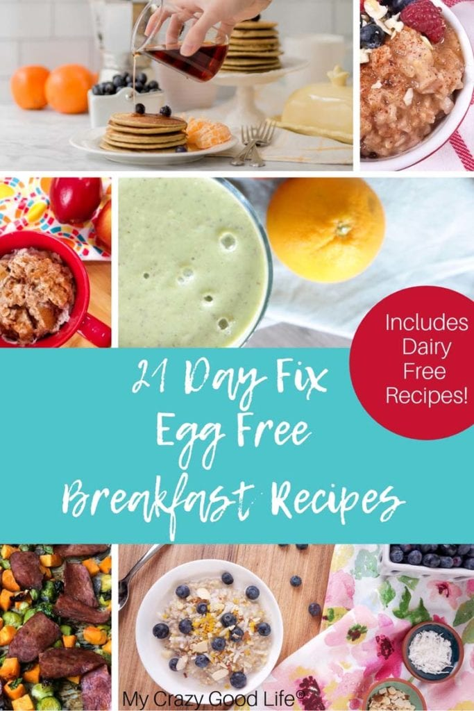 These 21 Day Fix Egg Free Breakfasts are perfect for those of you who have an egg allergy or just don't like them! Protein but no egg breakfasts are hard to come by, but I've pulled together a list of healthy breakfasts for you that have no eggs! No Egg Breakfast Recipes | High Protein Breakfast | Healthy No Egg breakfast | Healthy Egg Free Breakfast