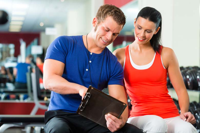 woman and man fitness training
