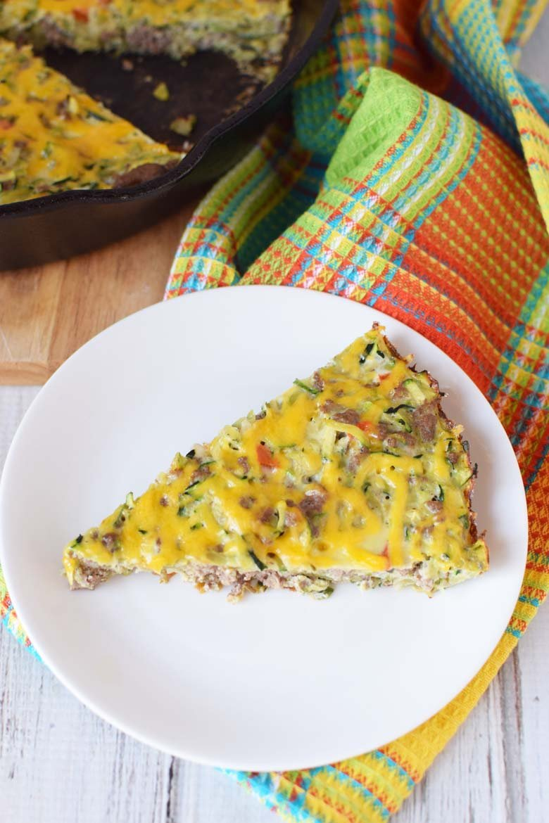 make ahead breakfast casserole on a white plate