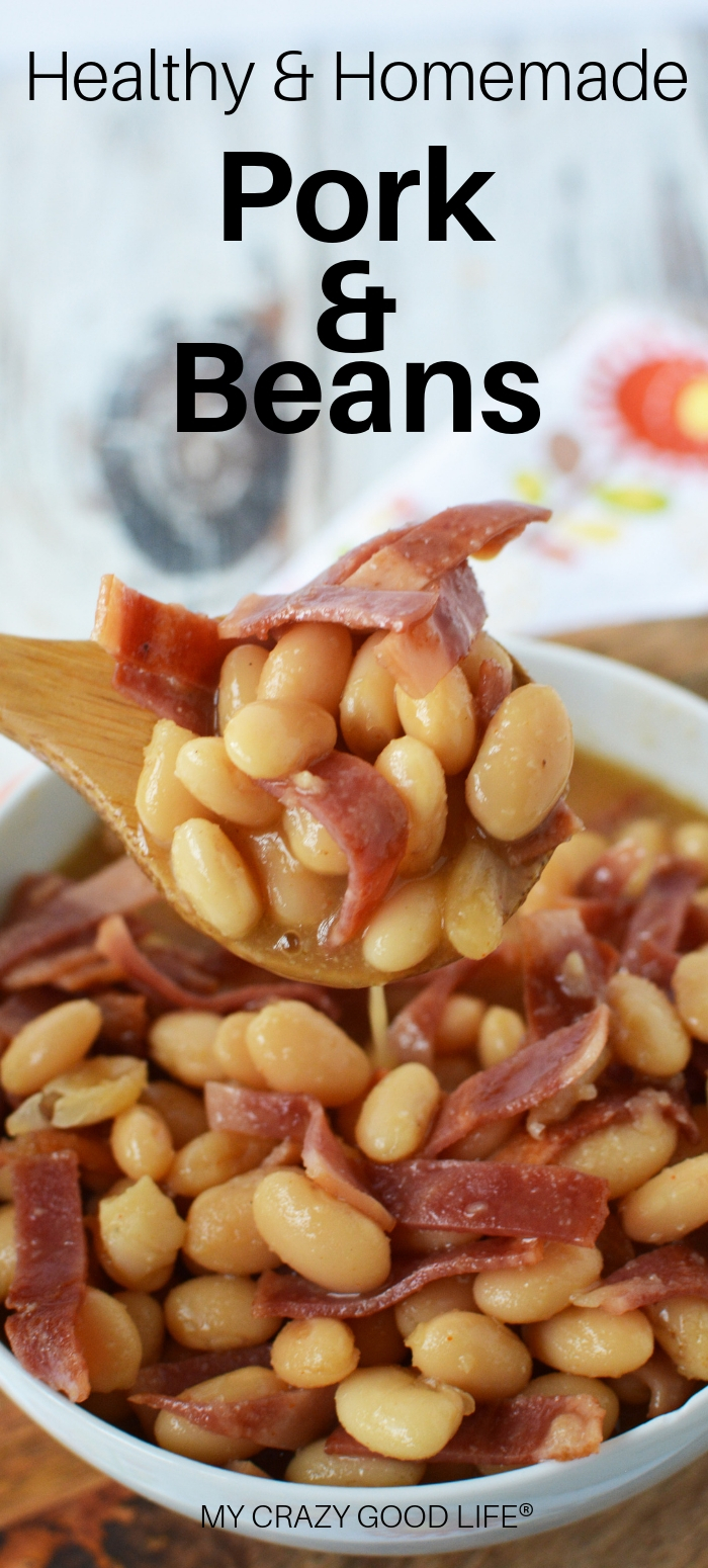 These homemade pork and beans are the perfect summer side dish. They're healthier than traditional canned pork and beans, too! Turkey bacon and honey are the magic ingredients in this delicious backyard BBQ recipe.