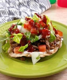 These Carne Asada Tostadas are a delicious lunch that can easily be made with meal prepped or leftover Carne Asada! An easy meal prep lunch recipe, these healthy tostadas are a traditional Mexican recipe that is family-friendly.