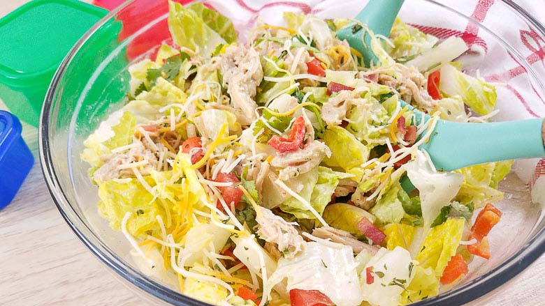 salad with crack chicken