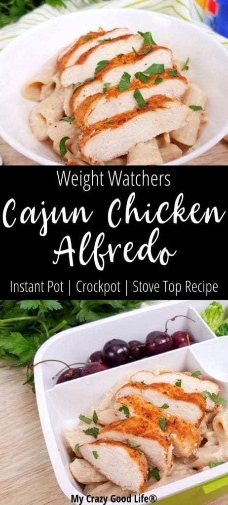 Weight Watchers cajun chicken alfredo is a family friendly healthy dinner recipe. This spicy twist on your favorite chicken alfredo is versatile and easy to make!