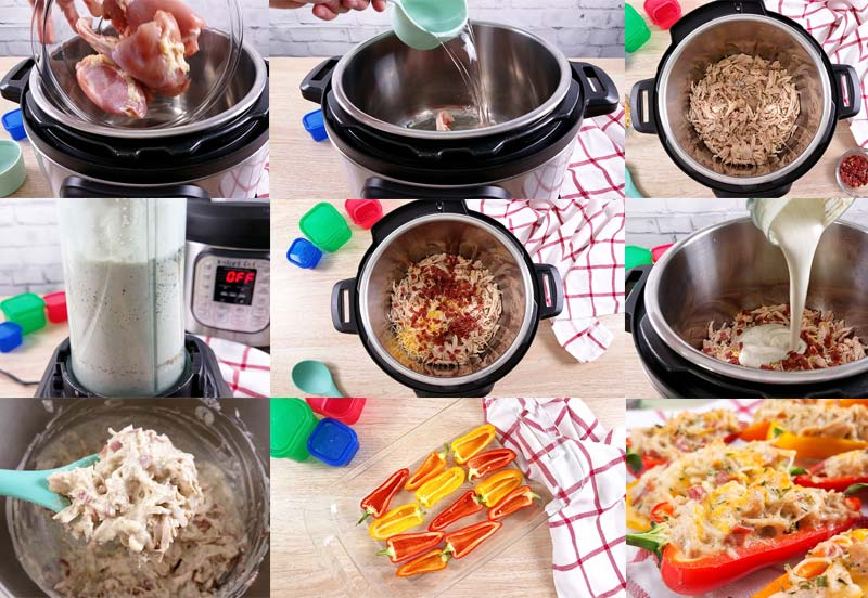 in process collage of how to make crack chicken