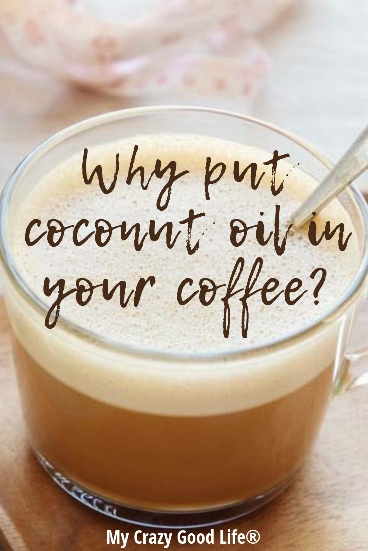 image with text of coconut oil latte