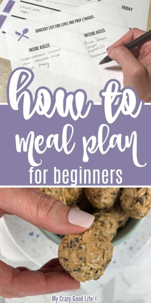image with text for pinterest about how to meal plan