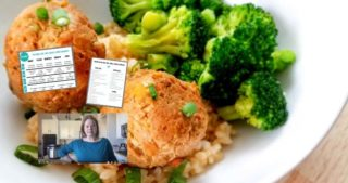 collage image of teriyaki chicken, free printables, and still image of my video