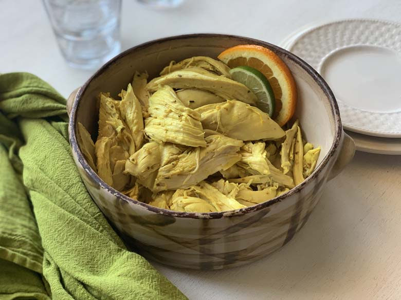 bowl of mexican citrus chicken