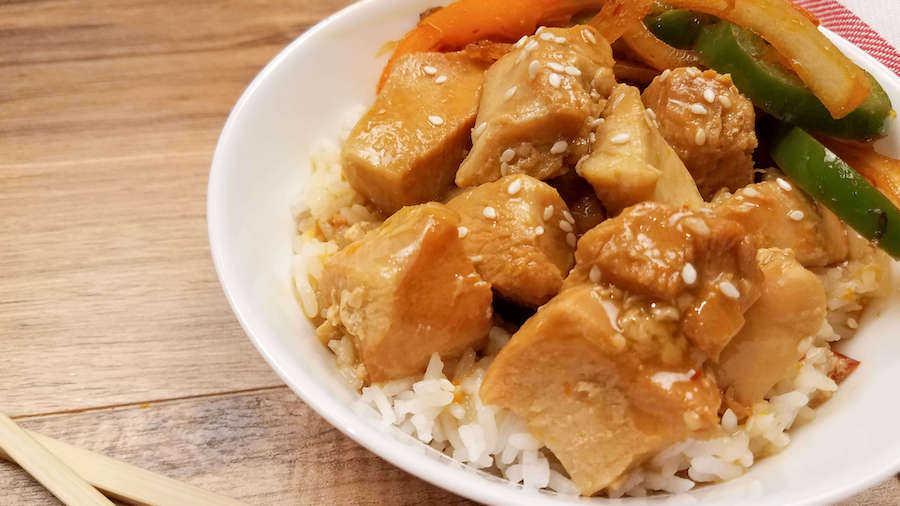 Orange chicken made in the instant pot.