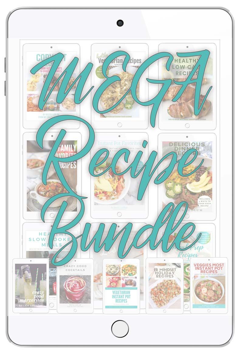ipad image of 10 cookbooks