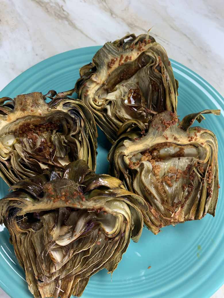 real roasted artichokes