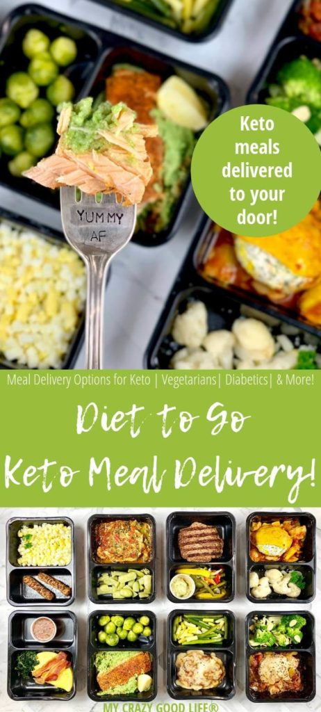 Pin style image showing Diet to Go Keto menu options