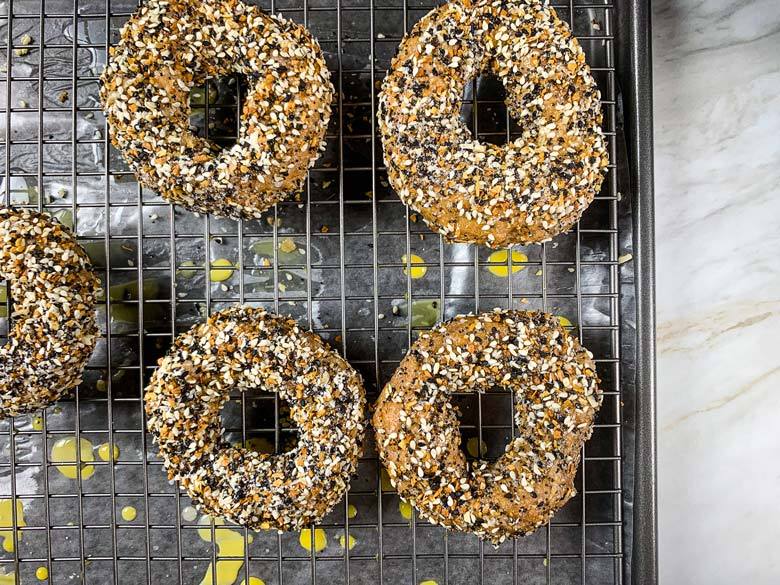 image of bagels on cooling rack