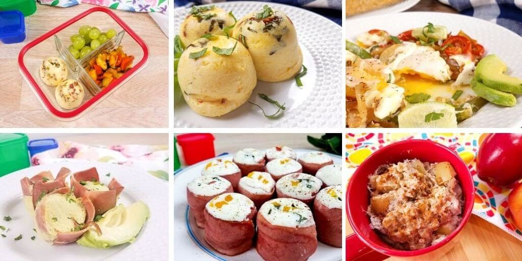 A variety of the breakfast recipes for the post healthy instant pot recipes shown in a collage.