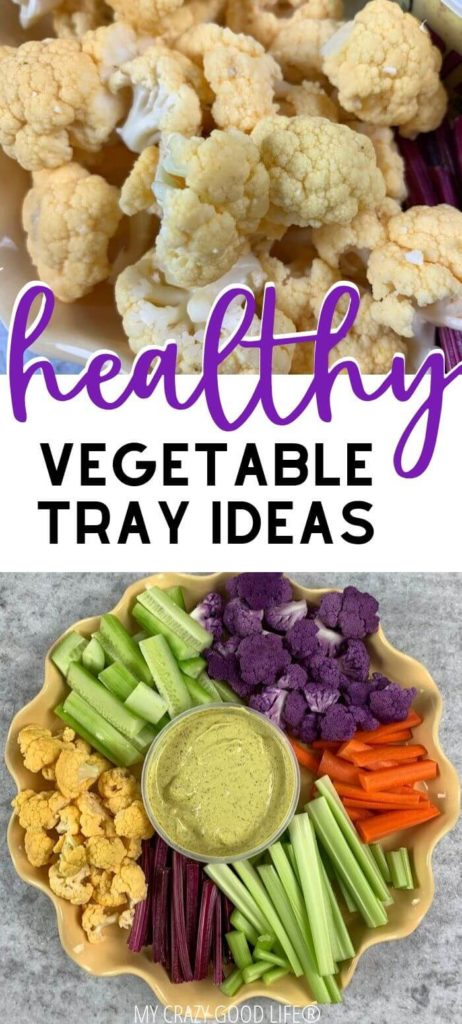 Healthy veggie tray ideas for the holidays.