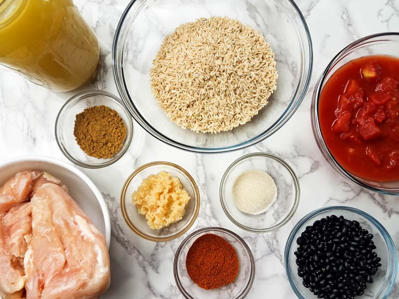 ingredients for instant pot burrito bowls