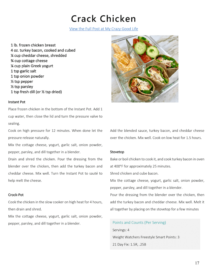 sample recipe from delicious dinner recipes ebook.