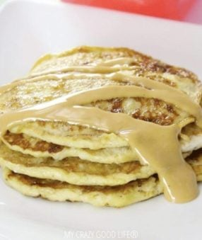 Banana pancakes recipe for Weight Watchers zero point breakfasts.