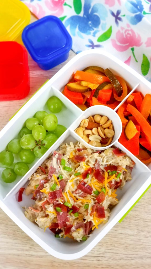 Casserole in divided meal prep container
