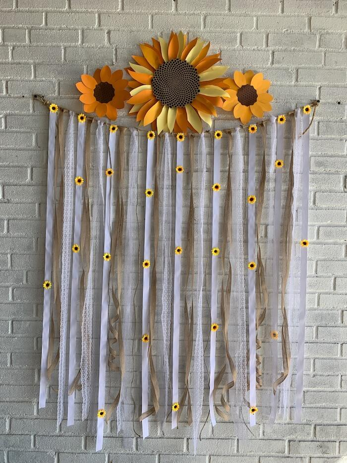 larger Cricut sunflowers make a nice statement piece as we compare cricut maker vs cricut explore air 2