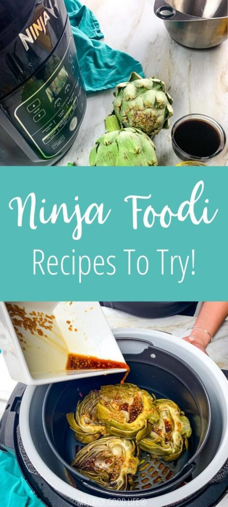 pin for post about recipes for the Ninja Foodi